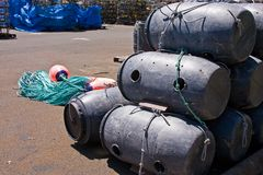 Commercial Crab Pots Royalty Free Stock Image