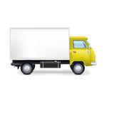 Commercial delivery cargo truck Royalty Free Stock Images