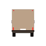 Commercial Delivery Van, Cargo Truck isolated on white. Vector illustration Royalty Free Stock Photos