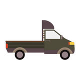 Commercial Delivery Van, Cargo Truck isolated on white. Vector illustration Royalty Free Stock Photo