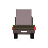 Commercial Delivery Van, Cargo Truck isolated on white. Vector illustration Royalty Free Stock Image