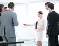 Commercial Director and business team discussing a new business Royalty Free Stock Photo
