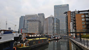 The commercial district of Canary Wharf is an example of the mod stock image