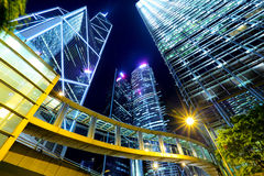 Commercial district in Hong Kong Stock Photography