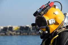 Commercial diving. Equipment, ready for the dive Stock Images