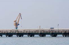 Commercial dock crane Royalty Free Stock Images