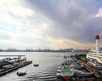 Commercial docks Stock Image