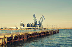 Commercial docks Royalty Free Stock Image