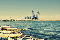 Commercial docks Royalty Free Stock Photos