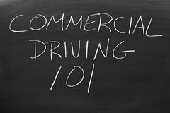 Commercial Driving 101 On A Blackboard stock photo