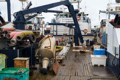 Commercial fishing boat deck Royalty Free Stock Photos