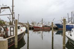 Commercial fishing boat Mary Emmalene at Steamship Pier stock photo
