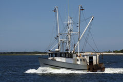 Commercial Fishing Boat. In New Jersey Stock Photos