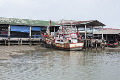 A commercial fishing boat. In old dock, at Andaman sea, Ranong Thailang Stock Photography
