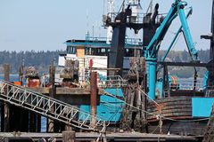 Commercial Fishing Boat in Port Royalty Free Stock Image