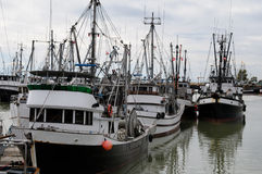 Commercial Fishing Boats. Docked in Steveston, BC, Canada Stock Photography