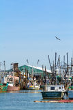 Commercial Fishing Boats in Belford, New Jersey Royalty Free Stock Photography