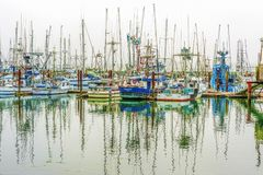 Commercial Fishing Boats in Newport Harbor Royalty Free Stock Photography