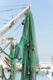 Commercial fishing boats at the ocean marina docks Stock Photo