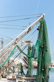 Commercial fishing boats at the ocean marina docks Stock Image