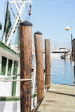 Commercial fishing boats at the ocean marina docks Royalty Free Stock Photography