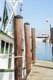 Commercial fishing boats at the ocean marina docks Royalty Free Stock Photography