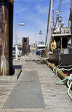 Commercial Fishing Dock in Vancouver Island Canada Royalty Free Stock Image