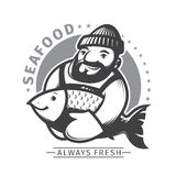 Commercial Fishing emblem Royalty Free Stock Image