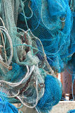 Commercial Fishing Net Hanging Out to Dry Stock Images