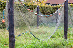 Commercial Fishing Net Hanging to Dry Stock Photos