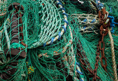 Commercial fishing nets Stock Photo
