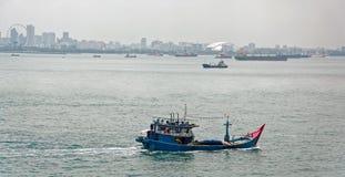 Commercial fishing trawler boat Stock Photo