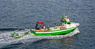 Commercial fishing trawler boat Royalty Free Stock Photography