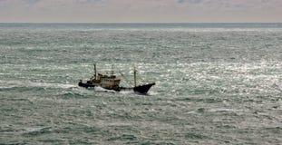 Commercial fishing trawler boat Stock Photos