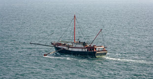 Commercial fishing trawler boat Royalty Free Stock Image