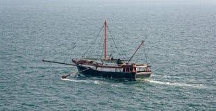 Commercial fishing trawler boat. Near Hong Kong Royalty Free Stock Image