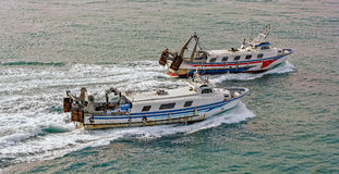 Commercial fishing trawler boats Royalty Free Stock Photo