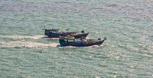 Commercial fishing trawler boats Stock Image