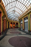 Commercial gallery. Old architecture of a commercial gallery in Oradea, Romania Stock Photos