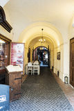 Commercial gallery on Nerudova Street in the Old Town of Prague Royalty Free Stock Image