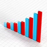 Commercial growth chart Stock Photo