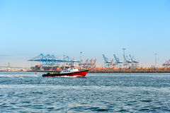 Commercial harbor Stock Photo