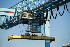 Commercial harbor with industrial cranes Royalty Free Stock Image