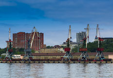 Commercial harbor vladivostok Royalty Free Stock Photo