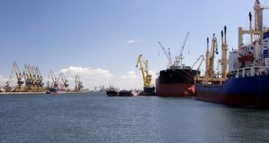 Commercial harbour Stock Photos
