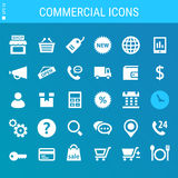 Commercial icons collection Royalty Free Stock Photography