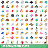 100 commercial icons set, isometric 3d style. 100 commercial icons set in isometric 3d style for any design vector illustration vector illustration