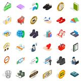 Commercial icons set, isometric style. Commercial icons set. Isometric style of 36 commercial vector icons for web isolated on white background Royalty Free Stock Photos