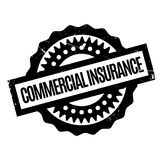 Commercial Insurance rubber stamp Royalty Free Stock Photos