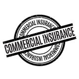 Commercial Insurance rubber stamp Royalty Free Stock Images